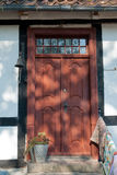 Decorative classical wooden door Royalty Free Stock Image