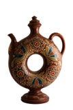 Decorative clay jug Royalty Free Stock Image