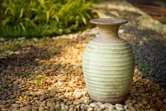 Decorative clay vases stock image