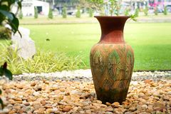 Decorative clay vases royalty free stock photos