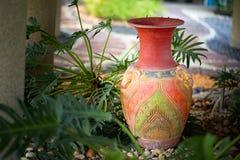 Decorative clay vases stock photo