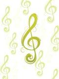 Decorative clef Stock Image