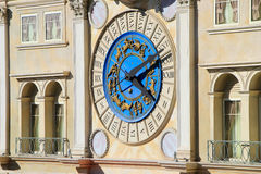Decorative clock on Venetian Resort hotel and casino facade, Las Stock Photography