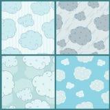 Decorative cloud. S on the blue decorative background Stock Photos