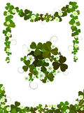 Decorative clover design. Elements for St.Patrick's Day layouts  against white background Royalty Free Stock Photos