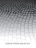A decorative cobblestone walkway. With space for your text Stock Photo