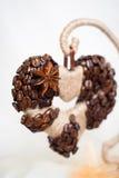 Decorative coffe heart Stock Photos