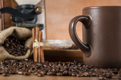 Decorative coffee beans concept Royalty Free Stock Photography