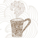 Decorative coffee cup Royalty Free Stock Photo