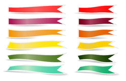 Decorative color ribbons Stock Photography