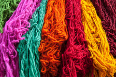 Decorative colored Berber wool Stock Image