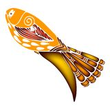 Decorative colored fish 3d vector illustration  eps10. Decorative colored fish drawing eps10 illustration nature  vector  decorative symbol print textile 3d Stock Photography