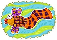 Decorative colored fish Stock Photo