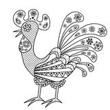 Decorative colored rooster Stock Photography