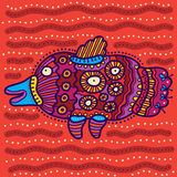 Decorative colored unusual fish Stock Image