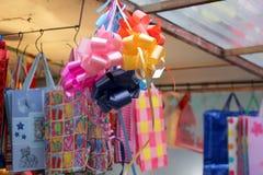Decorative colorful bags Stock Photos