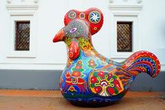 Decorative colorful big fun cock Stock Image
