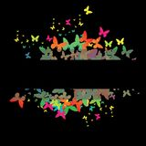 Decorative colorful butterfly. Stock Photos