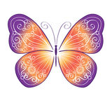 Decorative colorful butterfly Royalty Free Stock Photos