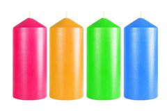 Decorative colorful candles Stock Image