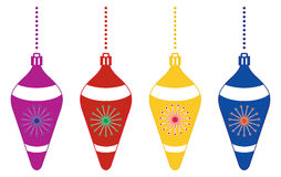Decorative Colorful Christmas Tree Ornaments Royalty Free Stock Image