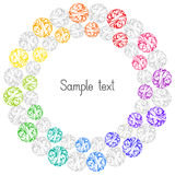 Decorative Colorful Element Circular Frame for Text. Stock Photography