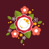 Decorative colorful floral composition. Royalty Free Stock Image