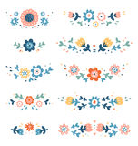 Decorative colorful floral compositions Stock Photo