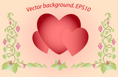 Decorative colorful floral hearts. Eps10 vector Royalty Free Stock Photo