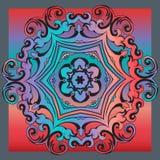 Decorative colorful vintage ornament florid tile. Decorative colorful florid tile with colorful vintage ornament design for creative needs Stock Images