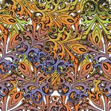 Decorative colorful florid vinatge ornament mosaic. Decorative colorful vintage florid ornament mosaic tile creatvive design template Stock Image