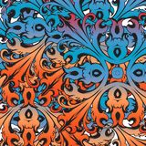 Decorative colorful florid vinatge ornament mosaic. Decorative colorful vintage florid ornament mosaic tile creatvive design template Stock Photo