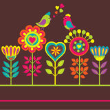 Decorative colorful funny flower composition Royalty Free Stock Photography