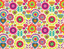 Decorative colorful funny seamless pattern Stock Images