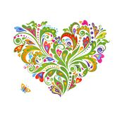 Decorative colorful heart shape Royalty Free Stock Images