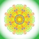 Decorative colorful mandala. Decorative colorful round tribal ethnic ornament, vector Stock Photo