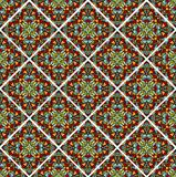 Decorative colorful mosaic tile. Seamless vector rhomboid patterns filled with multicolored shards Royalty Free Stock Image