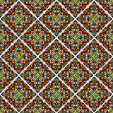 Decorative colorful mosaic tile. Seamless vector rhomboid patterns filled with multicolored shards Royalty Free Stock Photos