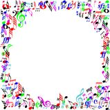 Color Music sign page border Stock Image