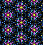 Decorative Colorful Oriental Floral Geometric Pattern Royalty Free Stock Photography