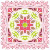 Decorative colorful ornament on a white background Royalty Free Stock Photos