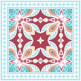 Decorative colorful ornament on a white background Royalty Free Stock Image