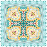 Decorative colorful ornament on a white background Royalty Free Stock Photo