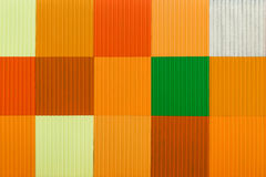 Decorative colorful plastic panel Royalty Free Stock Photography