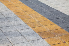 Decorative colorful sidewalk pavement Stock Photos