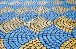 Decorative colorful sidewalk pavement. Stock Images