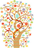 Decorative Colorful Tree Stock Photography