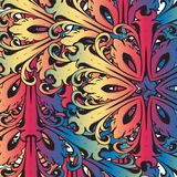 Decorative colorful florid vinatge ornament mosaic. Decorative colorful vintage florid ornament mosaic tile creatvive design template Royalty Free Stock Image