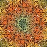 Decorative colorful florid vinatge ornament mosaic. Decorative colorful vintage florid ornament mosaic tile creatvive design template Stock Images