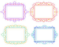 Decorative colorful vintage frames and borders set. #2 vector Stock Photo